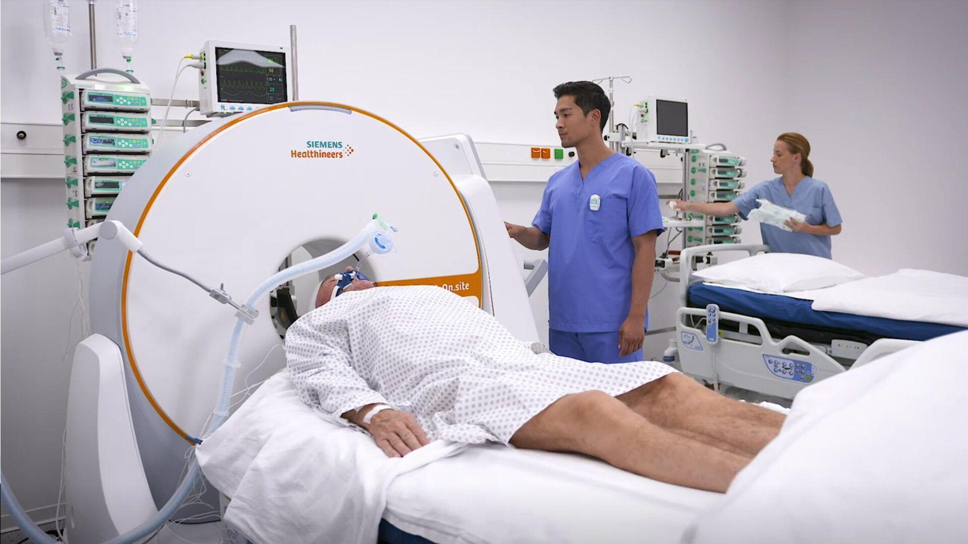 Imagen: El escáner de TC móvil SOMATOM On.site (Fotografía cortesía de Siemens)