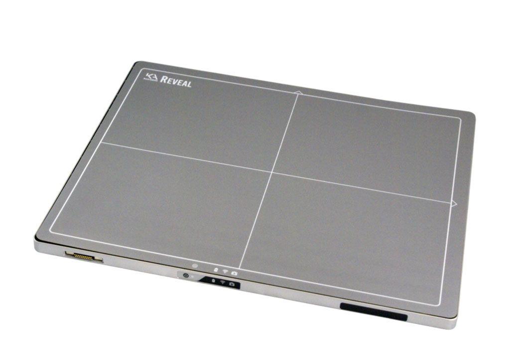 Imagen: El detector de pantalla plana Reveal Ray (Fotografía cortesía de KA Imaging)