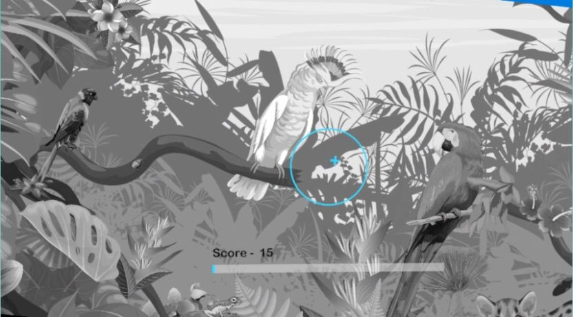 Imagen: Un juego de colorear de realidad virtual ayuda a aprender a permanecer quieto durante una resonancia magnética (Fotografía cortesía de Reimagine Well)