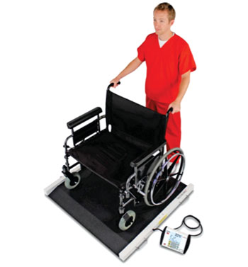The Detecto BRW1000 bariatric portable wheelchair scale