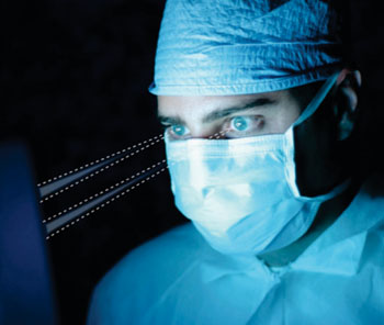 Image: Eye-tracking solution provides hands-free data access (Photo courtesy of Tobii Technology).