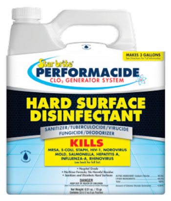 Image: Performacide ClO2 disinfectant (Photo courtesy Ocean Bio-Chem).
