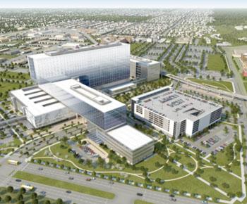 Image: The new Parkland Memorial Hospital (Photo courtesy of Parkland Memorial Hospital).