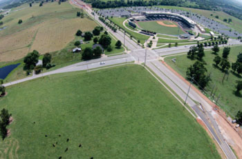 Image: The future site of the Springdale ACH campus on I-49, across from Arvest Ballpark (Photo courtesy of ACH).
