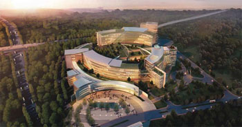 Image: The Concord Cancer Hospital in Guangzhou, China (Photo courtesy of Concord Medical Services).