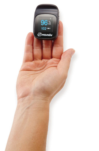 Image: The NoninConnect Elite Model 3240 Bluetooth pulse oximeter (Photo courtesy of Nonin Medical).