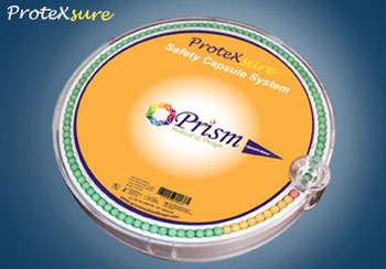 Image: The ProteXsure Safety Capsule System (Photo courtesy of Prism Medical & Design).