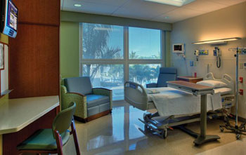 Image: Individual patient rooms at GCMC (Photo courtesy of KHSS / Skanska).