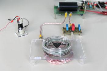 Image: The DEAP ring pump (Photo courtesy of the École Polytechnique Fédérale de Lausanne).