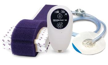 Image: The Prevena Plus negative pressure therapy system (Photo courtesy of Acelity).