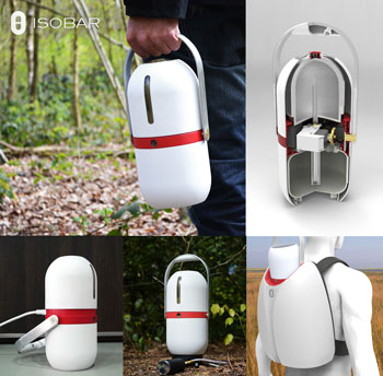 Image: The Isobar device can be used to transport vaccines in developing countries (Photo courtesy of William Broadway).