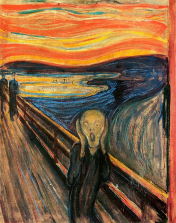 Image: The Scream by Edvard Munch (Photo courtesy of the National Gallery in Oslo, Norway).