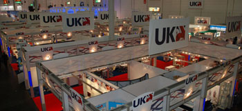 Image: The UK pavilion at the MEDICA international trade fair for the medical industry (Photo courtesy of ABHI).