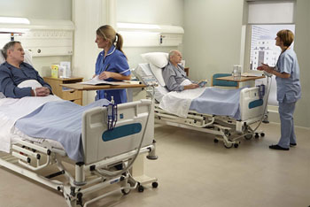 Image: The Sidhil IQ ICU bed has an X-Ray translucent backrest (Photo courtesy of Sidhil).