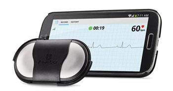 Image: The AliveCor mobile ECG recorder (Photo courtesy of AliveCor).