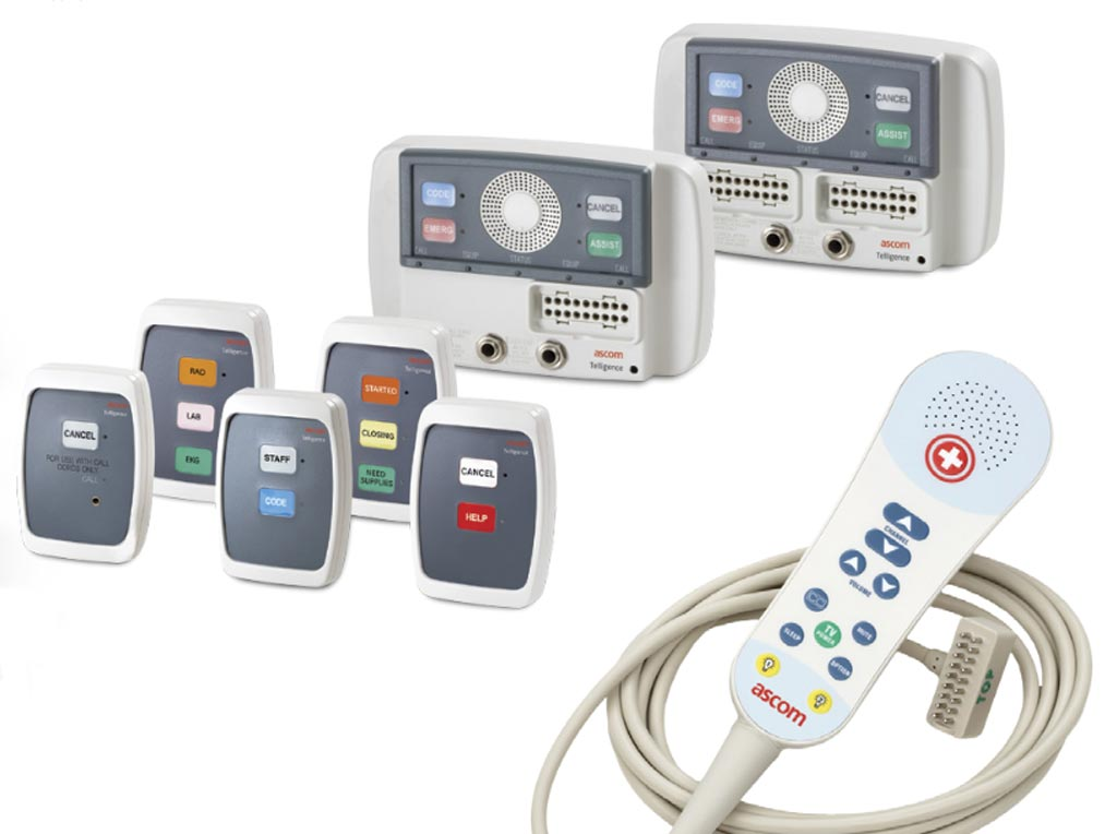 Image: The Telligence patient room devices (Photo courtesy of Ascom).