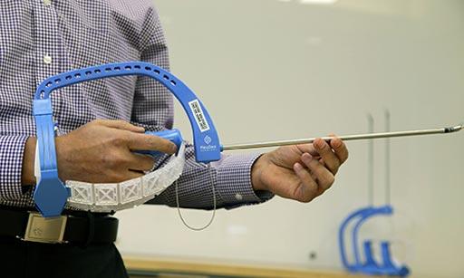 Image: The FlexdDex device enhances surgical suturing (Photo courtesy of FlexDex Surgical).