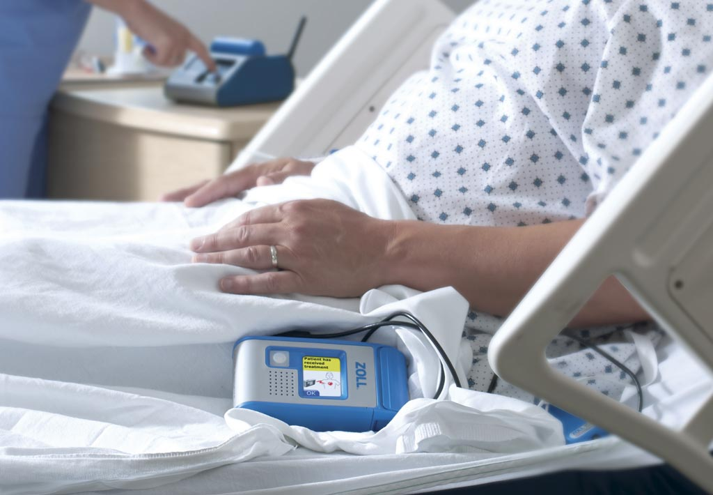 Image: The Hospital Wearable Defibrillator protects patients at risk of VT or VF (Photo courtesy of ZOLL).