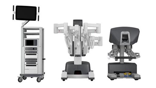 Image: The da Vinci X robotic-assisted surgical system (Photo courtesy of Intuitive Surgical).