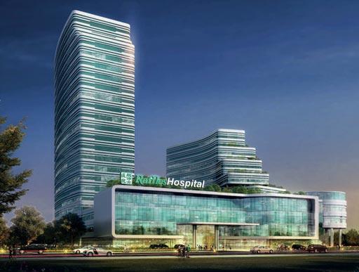Художественная визуализация больницы Raffles Hospital Chongqing (изображение любезно предоставлено Raffles Medical Group).