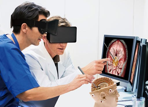 Image: Applications for VR in healthcare include surgery, pain management, and medical education, among many others as its appeal continues to grow (Photo courtesy of Touchstone Research).