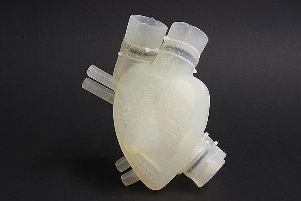 Image: A soft artificial heart made of silicon mimics natural function (Photo courtesy of ETH).