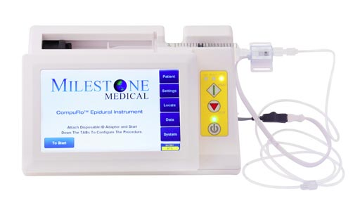 Image: The CompuFlo Epidural Computer Controlled Anesthesia System (Photo courtesy of Milestone Medical).