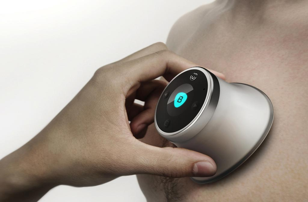Image: An electronic listening device detects cardiovascular disease (Photo courtesy of AUM Cardiovascular).
