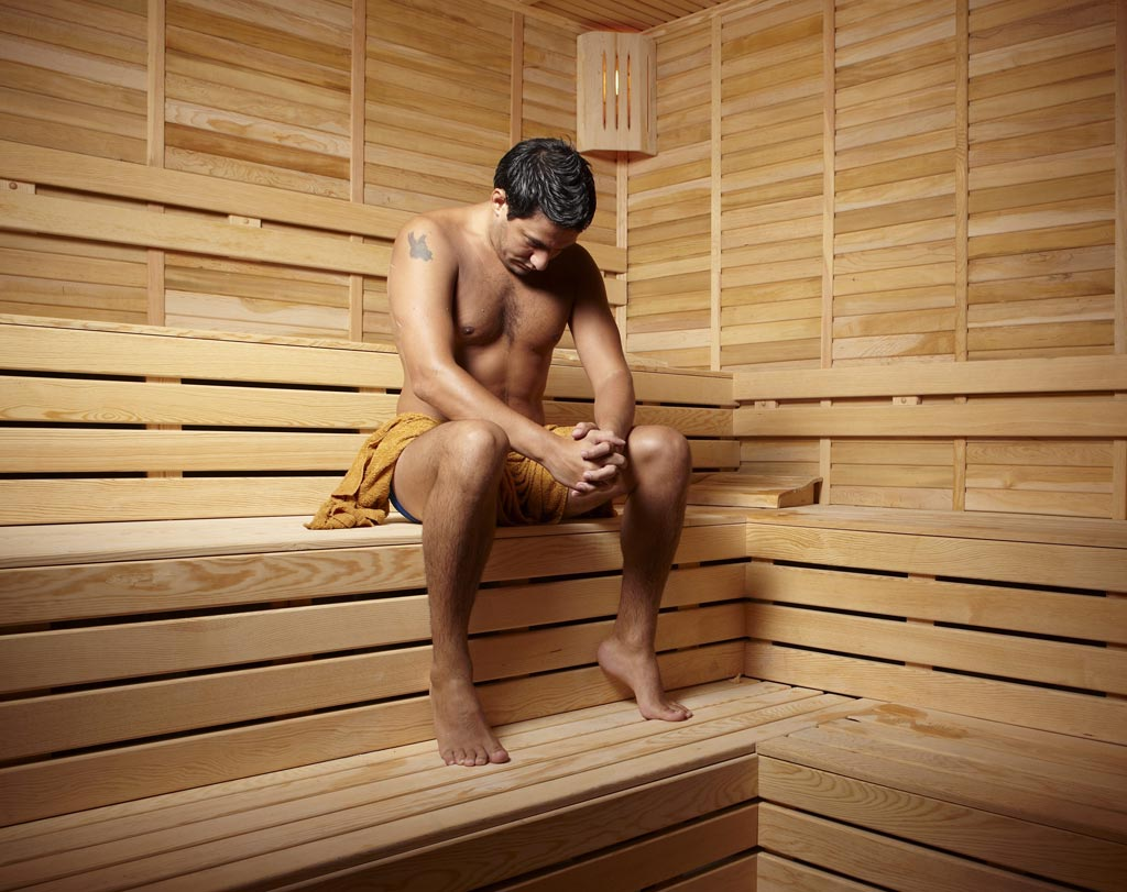 Image: A new study suggests that regular sauna bathing can reduce the risk of men developing hypertension by up to 46% (Photo courtesy of iStock).