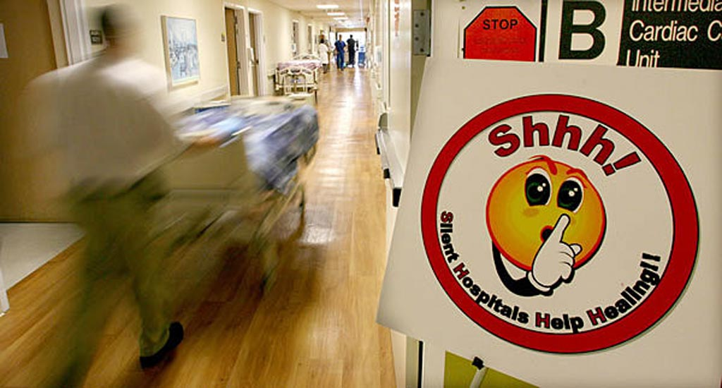 Image: Stanford is just one hospital trying to keep noise down (Photo courtesy of Stanford University).