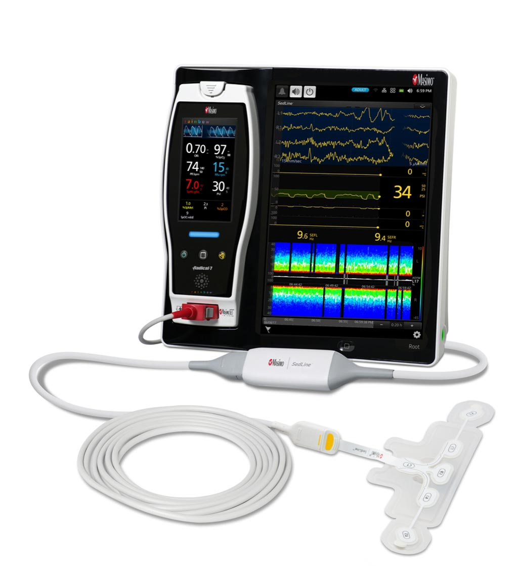Image: The Masimo Root and next-generation SedLine brain function monitor (Photo courtesy of Masimo).