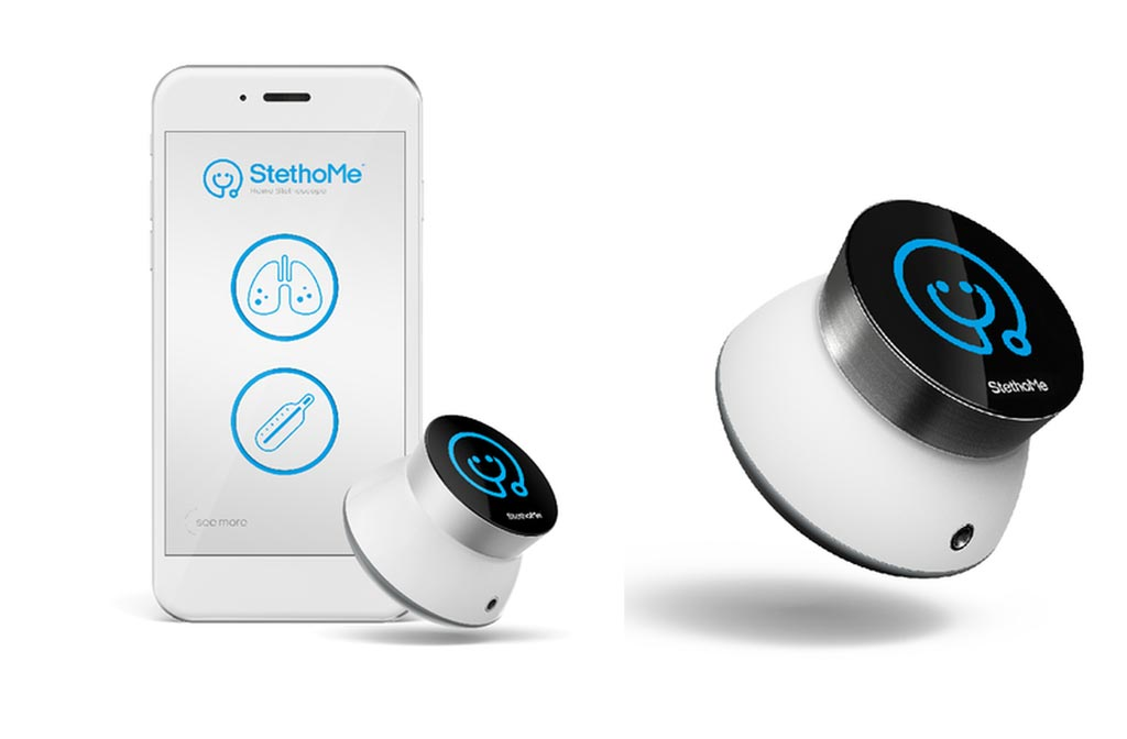 Image: The StethoMe wireless stethoscope and accompanying app (Photo courtesy of StethoMe).
