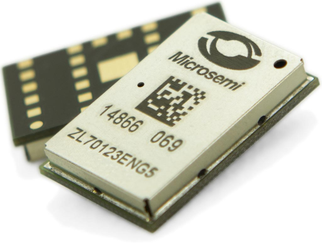 Image: The Microsemi ZL70123 base station RF module (Photo courtesy of Microsemi).