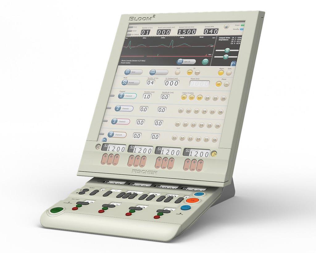 Image: The Bloom2 electrophysiology stimulator (Photo courtesy of Fischer Medical).