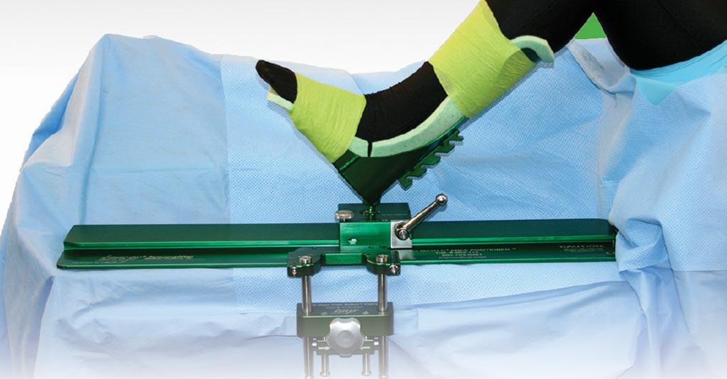 Image: The De Mayo D2 knee positioner (Photo courtesy of IMP).