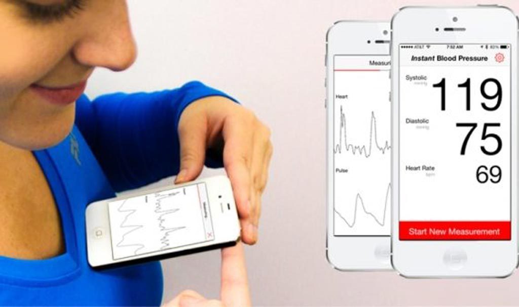 Image: The now-withdrawn IBP app claimed to accurately measure blood pressure (Photo courtesy of AuraLife).
