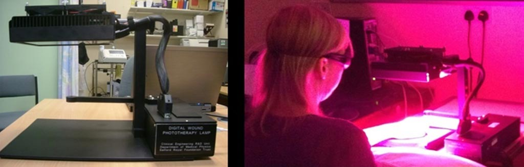 Image: The low-level light therapy device (Photo courtesy University of Manchester).