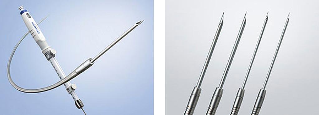 Image: The EZ Shot 3 Plus line of single-use aspiration needles (Photo courtesy of Olympus).