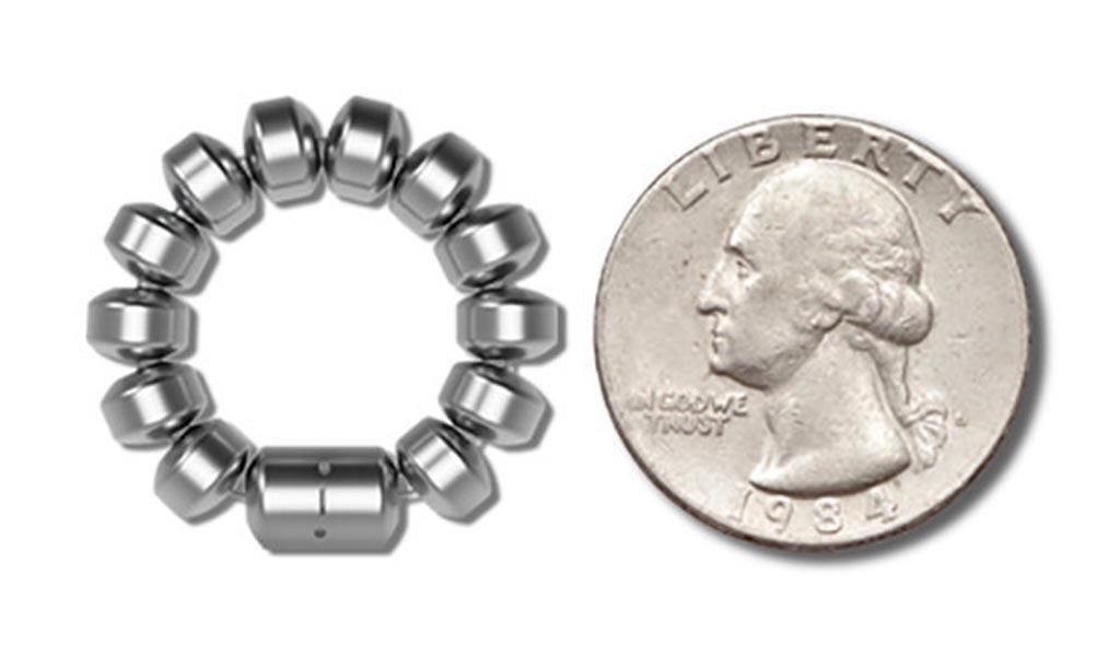 Image: A magnetic bracelet battles reflux disease (Photo courtesy of Ethicon Endo-Surgery).