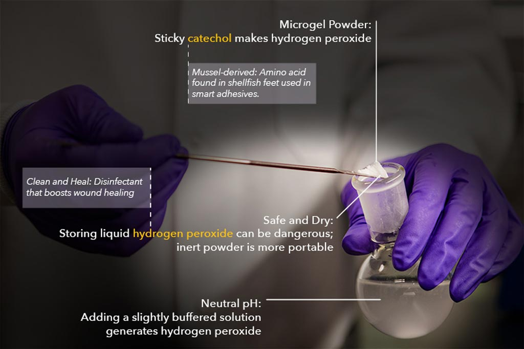Image: A new study asserts that microgel powder can disinfect wounds (Photo courtesy of MTU).