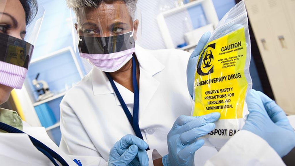 Image: Many oncology nurses do take necessary precautions when handling chemotherapy (Photo courtesy of U-M).