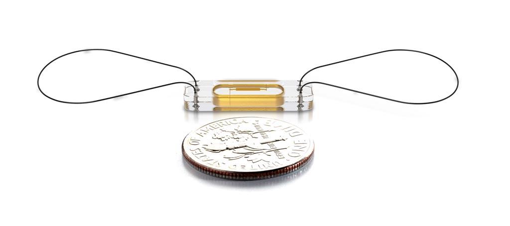 Image: The implantable, battery-free CardioMEMS sensor (Photo courtesy of Abbott Vascular).