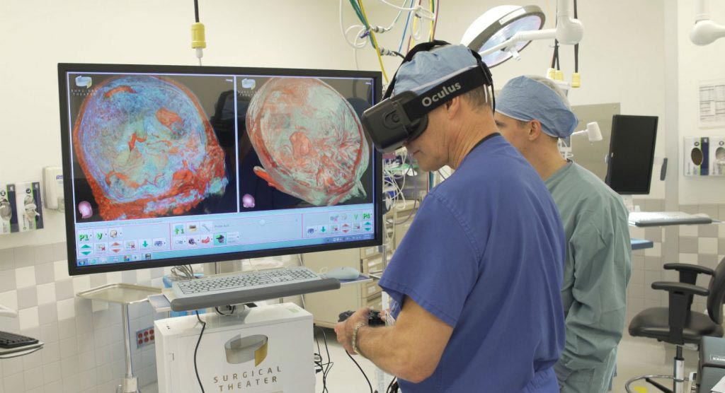 Image: A VR system assists neurosurgeons plan surgery (Photo courtesy of Surgical Theater).