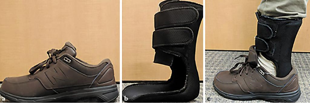 Image: The innovative brace is designed to give seniors more confidence when walking (Photo courtesy of Baylor College of Medicine).