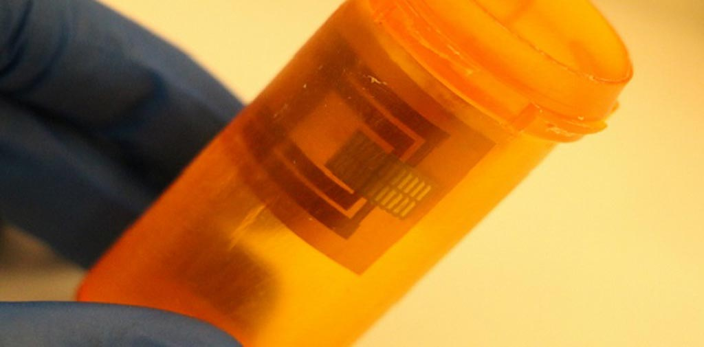 Image: Paper-based electronics detect pillbox tampering (Photo courtesy of KAUST).