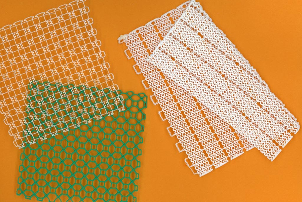 Image: Examples of 3D-printed meshes (Photo courtesy of MIT).