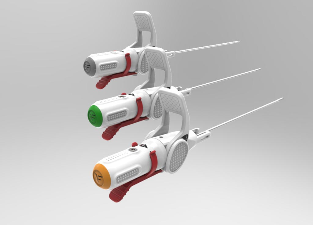 Image: The product line of the Celt ACD vascular closure devices (Photo courtesy of Vasorum).