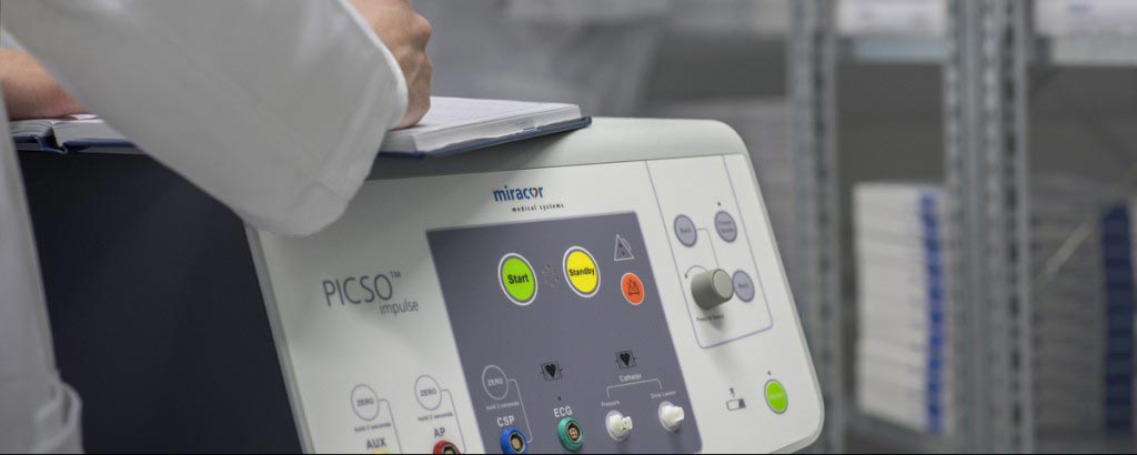 Image: The PiCSO Impulse controller console (Photo courtesy of Miracor Medical).