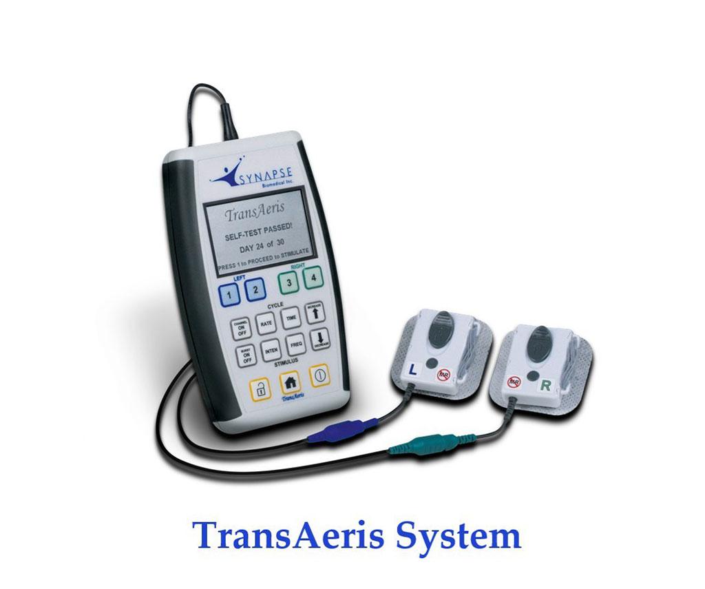 Image: The TransAeris Diaphragm Pacing System (DPS) (Photo courtesy of Synapse Biomedical).