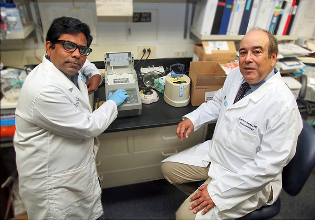 Image: Drs. Carlos Isales and Sadanand Fuzele (Photo courtesy of Augusta University)
